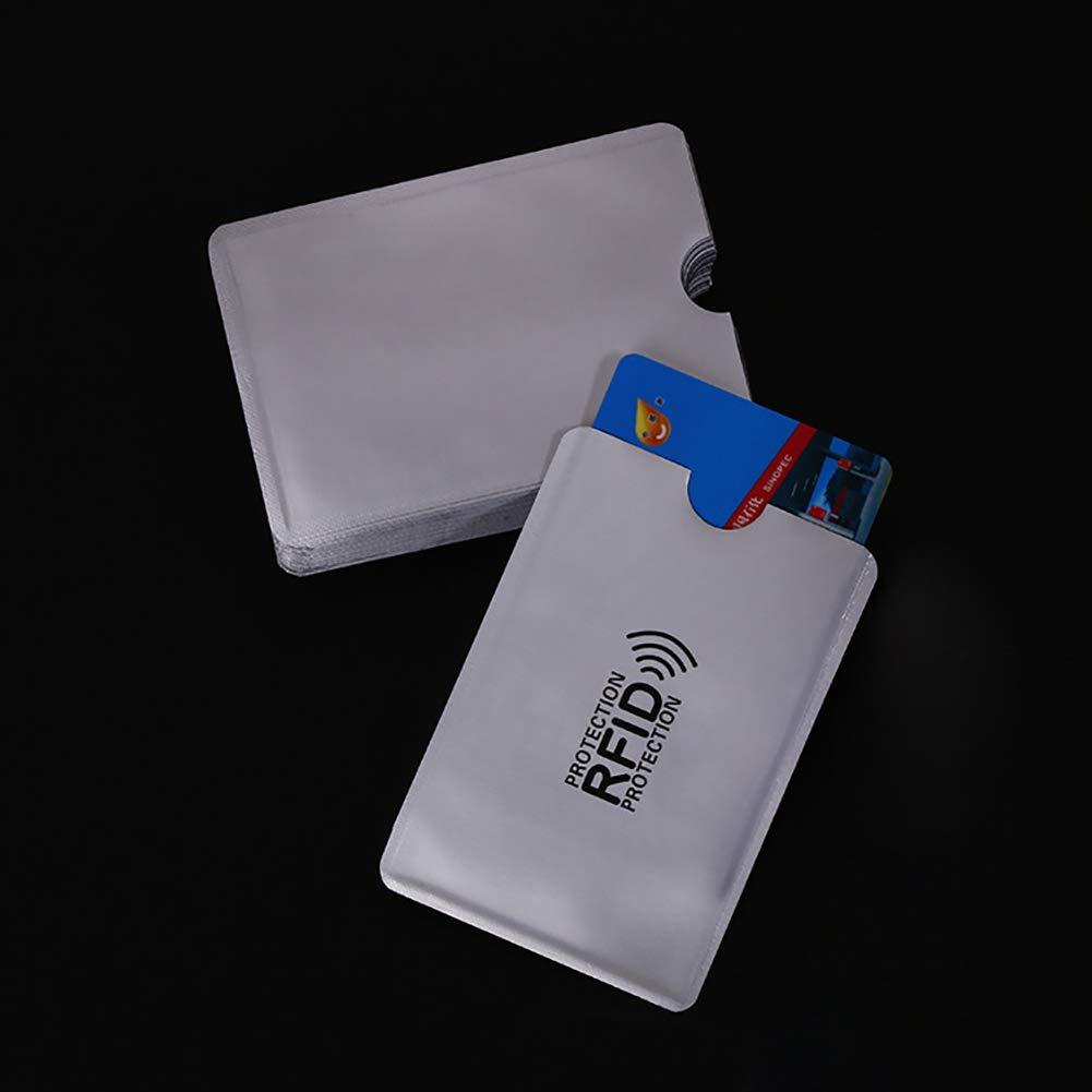 Pink888 Lot de 10 sacs de protection anti-rayures RFID pour cartes de cr/édit multicolore