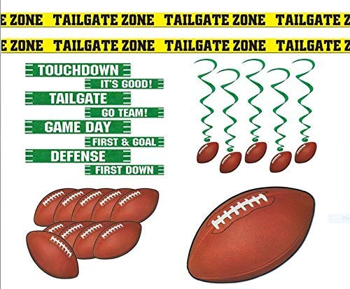 College Football Decorations - Football Party Supplies Decorations Whirls Tailgate