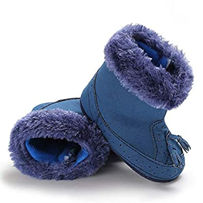Baby Girl Boy Girl Soft Booties Tassels Snow Boots Toddler Warm Shoes