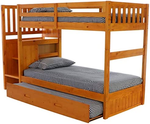 home, kitchen, furniture, bedroom furniture, beds, frames, bases,  beds 2 discount Discovery World Furniture Mission Twin Over Twin Staircase deals