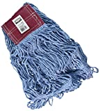 Rubbermaid Commercial Products FGD25306BL00 Super Stich Blend Mop, Large, 5'' Blue Headband (Pack of 6)