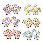 Ewandastore-100-Pcs-Diameter-24-Inch-Artificial-Plumeria-Rubra-Hawaiian-Foam-Frangipani-Flower-Petals-for-Weddings-Party-DecorationRed