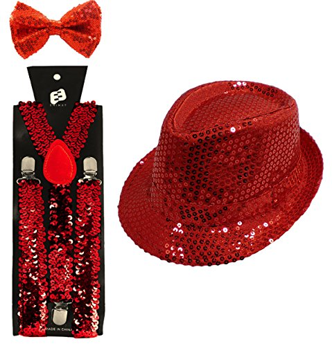 Jazz Group Dance Costumes (Enimay Halloween Showgirl Jazz Dance Costume Sequin Red)
