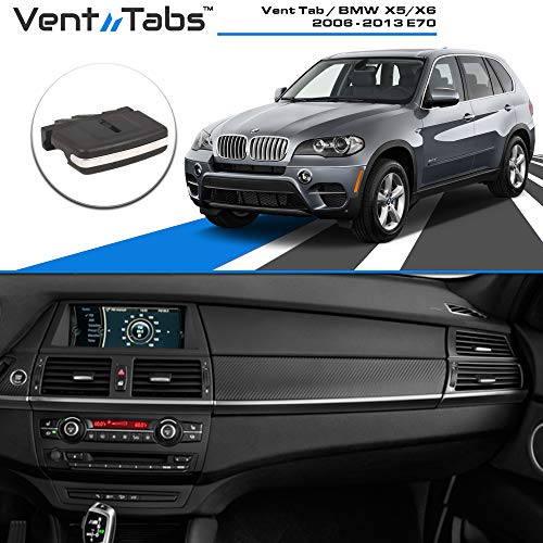 Venttabs for BMW X5 / X6 (2006-2013) E70 Air Conditioning Vent Replacement Tab | 30-Second Installation | Easy Clip on | No Screws or Tools Required | American Design - Vent Outlet Tab Clip
