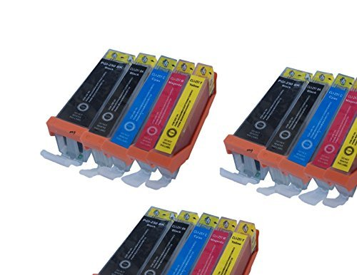 INKTONER 15 Pack PGI-250 & CLI-251 New Compatible Ink Cartridges (3xLB/3xSB/3xC/3xM/3xY) Replacement For Cannon PIXMA MG5420, PIXMA MG5450, PIXMA MG6320, PIXMA MG6350, PIXMA MX722, PIXMA MX922, PIXMA iP7220, PIXMA iP7250 Printers