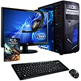 "Vibox Vision Package 2 Gaming PC - with Warthunder Game Bundle, 21.5"" HD Monitor, Gamer Headset, Keyboard & Mouse Set (3.7GHz AMD A4 Dual Core Processor, Radeon HD Graphics Chip, 1TB Hard Drive, 8GB RAM, AvP Mamba Blue LED Case, No Operating System)"