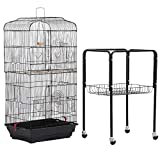 Yaheetech 36' Rolling Bird Cage for Small Parrots Cockatiels Sun Parakeets...