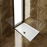 ELEGANT Rectangular 1200 x 800mm Walk-In Shower Enclosure Tray with Waste Trap