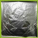 25 Blatt Blattsilber zum Versilbern, 14x 14 cm, Schlagmetall