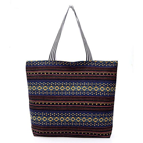 Women Tote Canvas Bag 7 4 Zipper Large Hobo Shopping Fashion JAGENIE Shoulder Handbag Beach 4UwnFxqSg