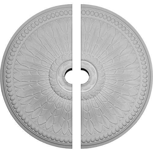 "Ekena Millwork CM42SP2-04500 Springtime Ceiling Medallion, 42 1/2""OD x 4 1/2""ID x 4 5/8""P (Fits Canopies up to 9 3/8""), Factory Primed"