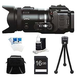 JVC GC-PX100BUS - HD Everio Camcorder (Black) with 16GB Bundle