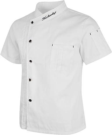 B Blesiya Chaqueta de Chef Unisex Capa Camisa Cocina Uniforme Profesional Diseño Cocina: Amazon.es: Ropa y accesorios