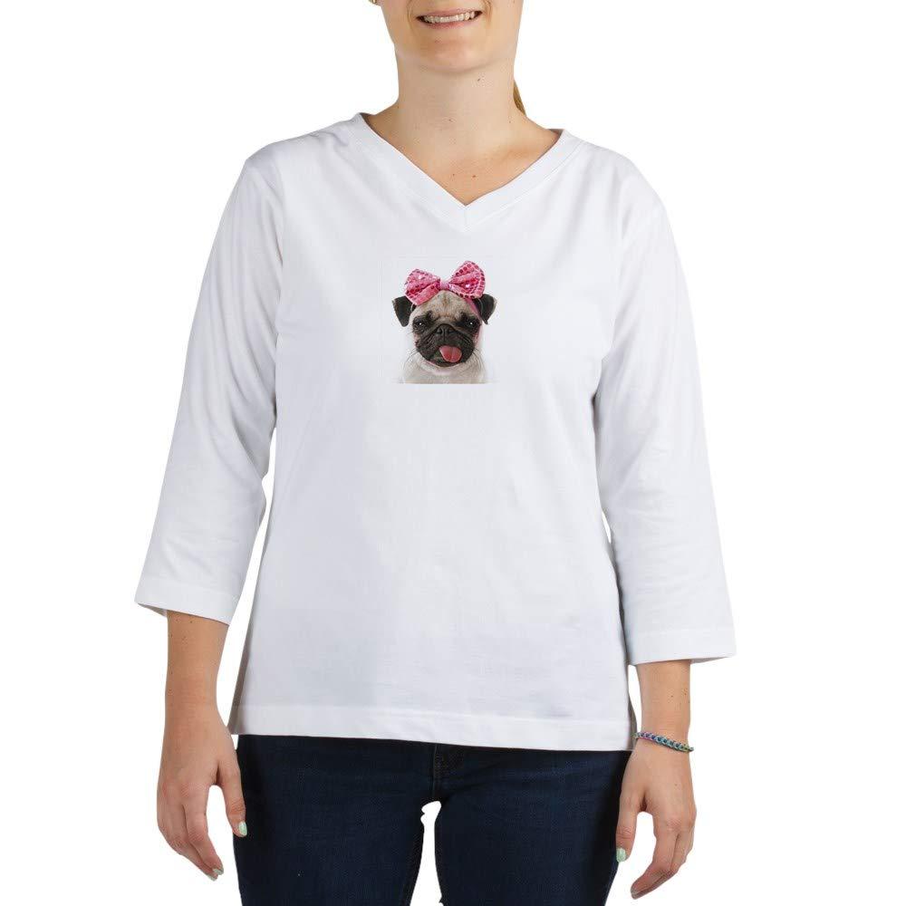 Pug 3 4 Sleeve T Shirt Baseball Tee 6666