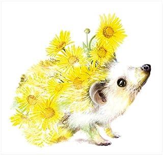 Happy Hedgehog Wildlife botanico biglietto d' auguri e busta