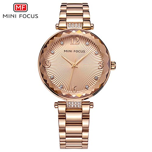 HWCOO Relojes de pulsera MINI FOCUS/reloj de señora/diamante/movimiento japonés/impermeable/correa de cuero/Europa y la venta caliente de Estados Unidos ...
