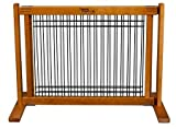 Dynamic Accents Wood and Wire Pet Gate Fence, Home Decor - Small / Artisan Bronze