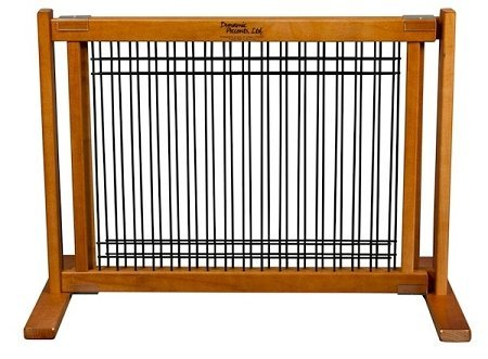 Dynamic Accents Wood and Wire Pet Gate Fence, Home Decor - Small / Artisan Bronze by Dynamic Accents
