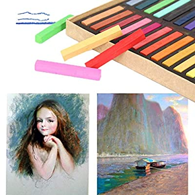 48 Colors Chalks Jumbo Sidewalk Chalk For Kids Toddlers Outdoor Side Walk Outside Driveway Easter Drawing Art Floor Chalks (Multicolor): Office Products
