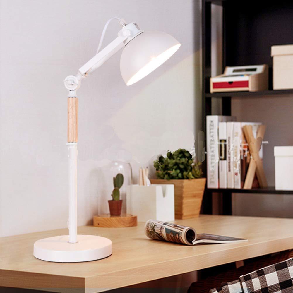 Amazon.com: CCSUN Lámpara de mesa LED de madera maciza para ...