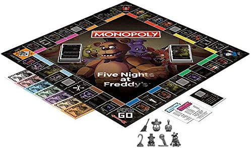 Monopoly: Five Nights at FreddyS (Square Box Edition with Exclusive Nightmare Freddy Token): Amazon.es: Juguetes y juegos