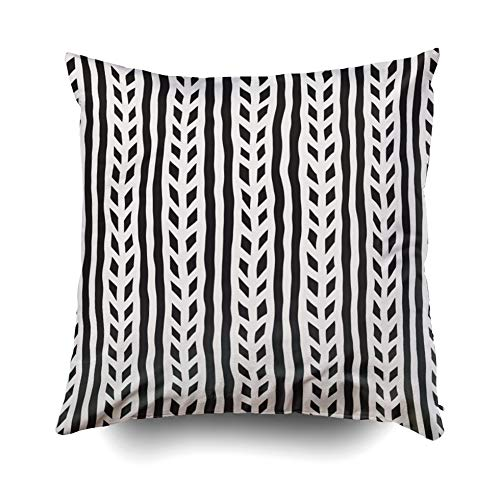 ROOLAYS Soft Pillow Case, Throw Square Decorative Pillow Cover 20x20Inch,Cushion Covers Hand Drawn Style Seamless patt Both Sides Printing Invisible Zipper Home Sofa Decor Pillowcase