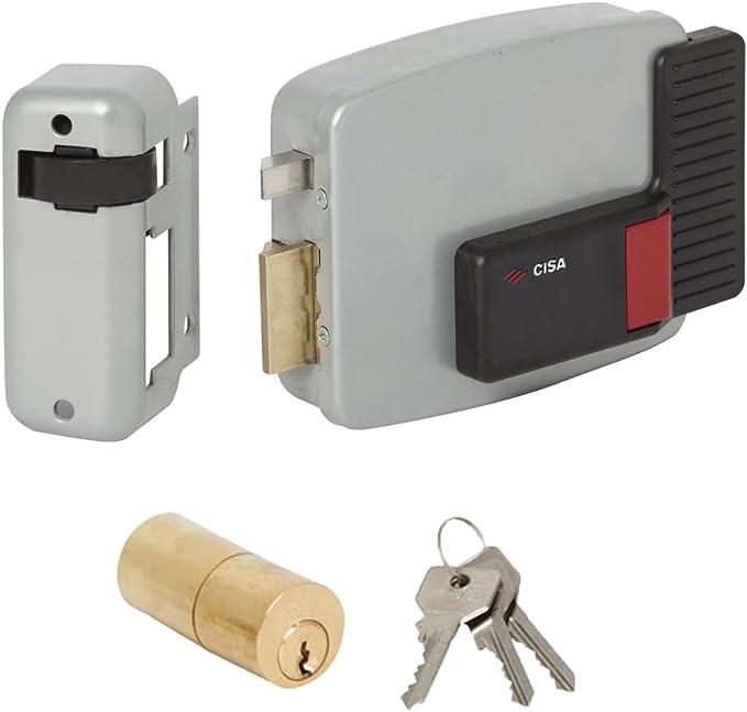 60 mm Entrata Sinistra Cisa 11520-40 Serratura Elettrica per Cancello 11611