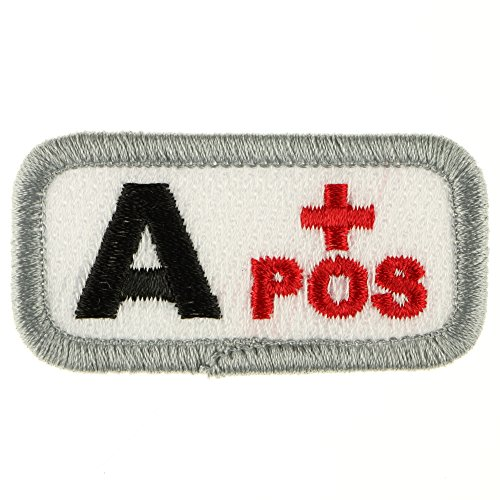 Iron Sew on Applique Patch : Blood Type