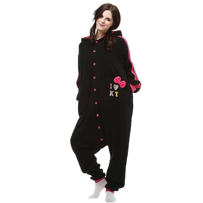 MissFox Kigurumi Pijamas Adulto Anime Disfraz Cosplay de Halloween Traje Outfit de Carnaval - Negro Gato