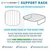 Air Fryer Rack and Grill Pan Accessories Compatible