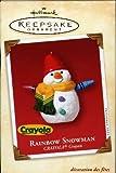 Hallmark Keepsake Ornament Rainbow Snowman Crayola® Crayon 2002 QX8283