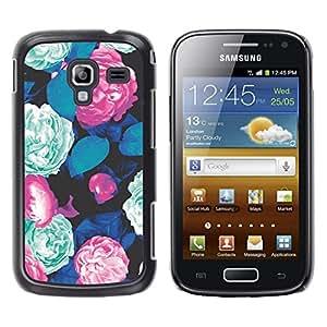 Be Good Phone Accessory // Dura Cáscara cubierta Protectora Caso Carcasa Funda de Protección para Samsung Galaxy Ace 2 I8160 Ace II X S7560M // begonia mint green floral vintage retr