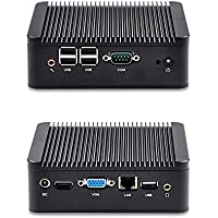 QOTOM Mini PC Q100N-S02 with celeron processor 1037u dual core 1.8 GHz, 8G RAM 500G HDD, DC 12V Mini Computer