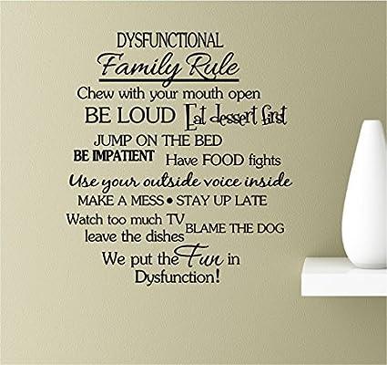 Amazon.com: EvelynDavid Dysfunctional Family Rule chew with ...