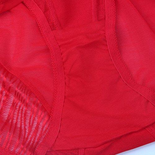 Abdomen Mujer Cintura Alta Coloridos Levante Las Caderas Esculpir El Cuerpo Suave Transpirable Cómodo Bragas Purple
