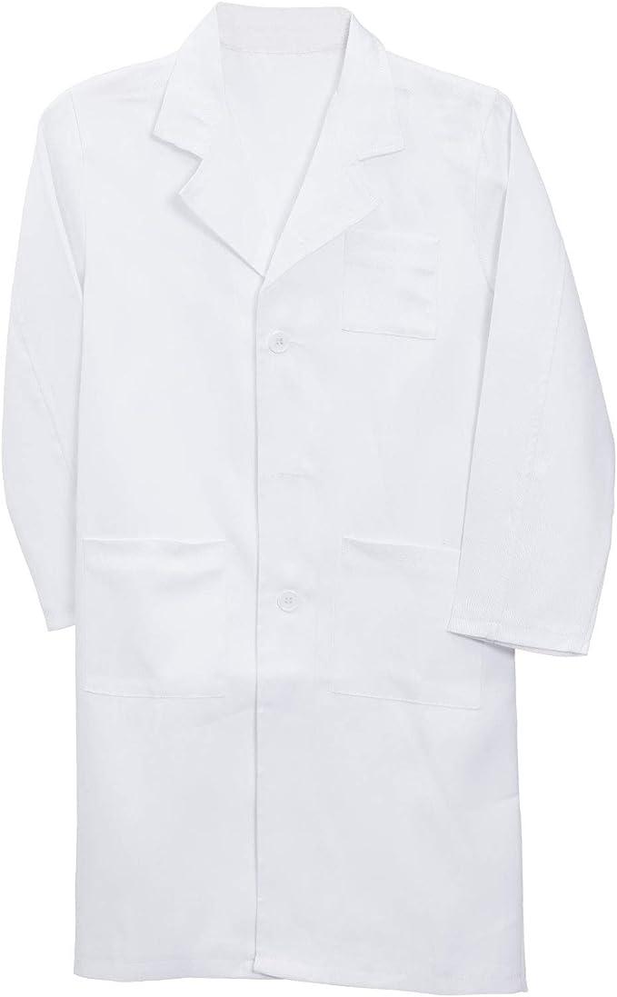AllRight Manteau Blanc de Laboratoire Vetement Femme Homme Manches Longues Unisexes Professionnel