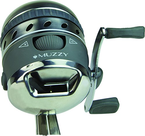 Muzzy Bowfishing 1069 XD Pro Spin Style Reel with Integrated Reel Mounting system and 150# Line Installed - Reversible Left or Right Hand