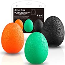 Dimples Excel Squeeze Stress Balls for Hand, Finger and Grip Strengthening-Set of 3 Resistance