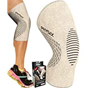Amazon #DealOfTheDay: Physix Gear Knee Support Brace - Premium Recovery & Compression Sleeve For Meniscus Tear, ACL, MCL Running & Arthritis - Best Neoprene Stabilizer Wrap for Crossfit, Squats & Workouts - For Men & Women