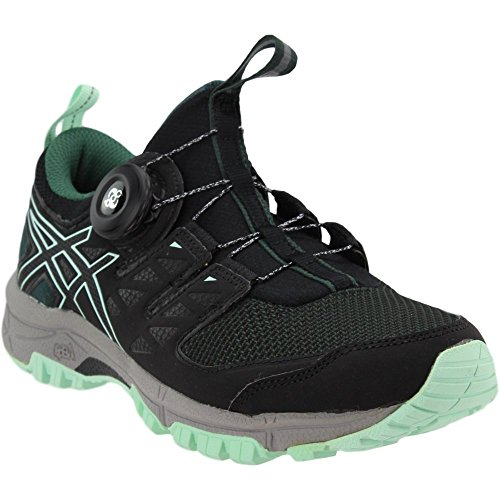 Asics Womens Gel-FujiRado Trail Running Shoes Hampton Green/Black/Aluminum
