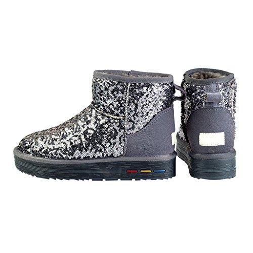 Optimal Women's Classic Winter Short Sparkles Snow Boot