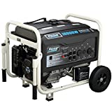 10000 Watt Gas Generator - Pulsar PG10000 10,000W Peak 8000W Rated Portable Gas-Powered Generator with Electric Start