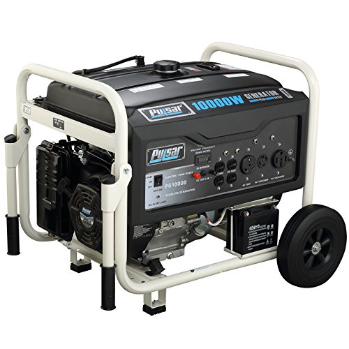 Pulsar PG10000 10,000W Peak 8000W Rated Portable Gas-Powered Generator with Electric (Propane Gas Generator)