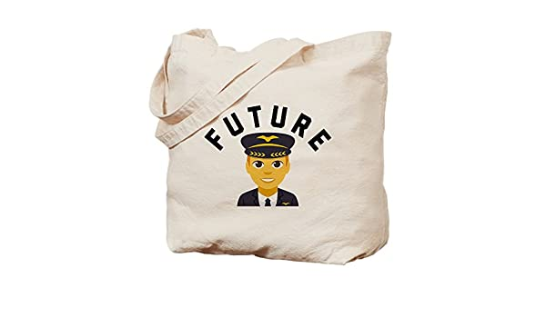 Amazon com: CafePress Emoji Future Pilot Natural Canvas Tote Bag