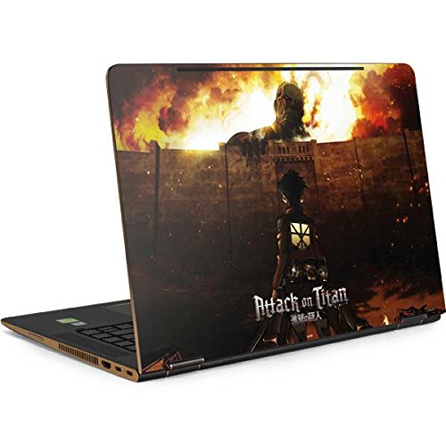 Skinit Attack On Titan Fire Spectre 15t (2017) Skin - Officially Licensed Group 1200 Anime Laptop Decal - Ultra Thin, Lightweight Vinyl Decal Protection