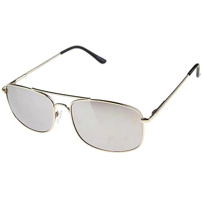 Kuss ® Sonnenbrille Aviator mod. Wohnwagen Spezial-männlich weiblich JOHNNY DEPP Stil RETRO Sonnenbrille - SILVER rSgLFItJ