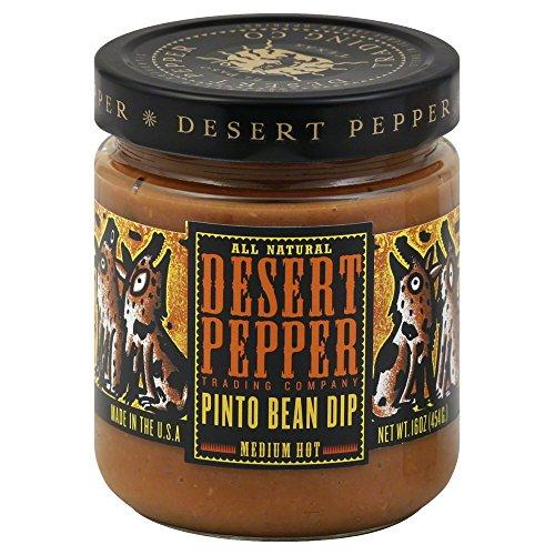 Desert Pepper Medium Hot Pinto Bean Dip, 16 Ounce - 6 per case.