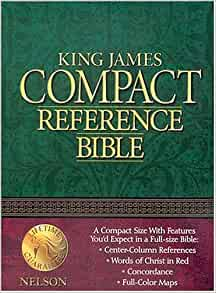 NKJV Large Print Compact Reference Bible, Purple LeatherTouch (2013, Imitation Leather)