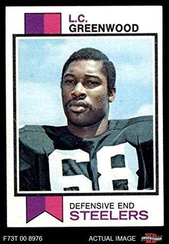 1973 Topps Card (1973 Topps # 165 L.C. Greenwood Pittsburgh Steelers (Football Card) Dean's Cards 5 - EX Steelers)