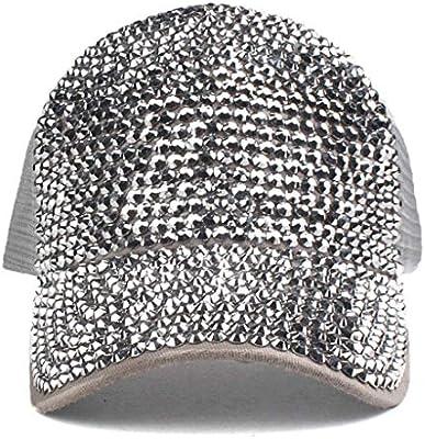 KHMQB Moda Unisex Rhinestone Diamond Gorras de béisbol Sombreros ...